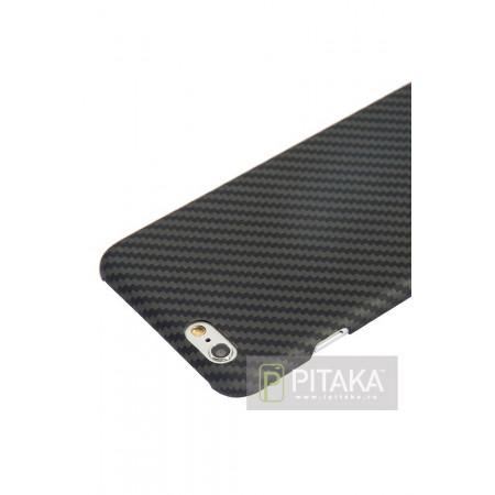 Чехол Pitaka MagEZ Case для iPhone 6/6S черно-серый в полоску , кевлар (арамид)