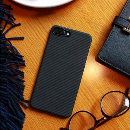 Чехол Pitaka MagEZ Case для iPhone 7 Plus шахматное плетение черно-серый , кевлар (арамид)