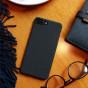 Карбоновый чехол Pitaka MagCase (Кевлар) для iPhone 7 Plus шахматное плетение черно-серый
