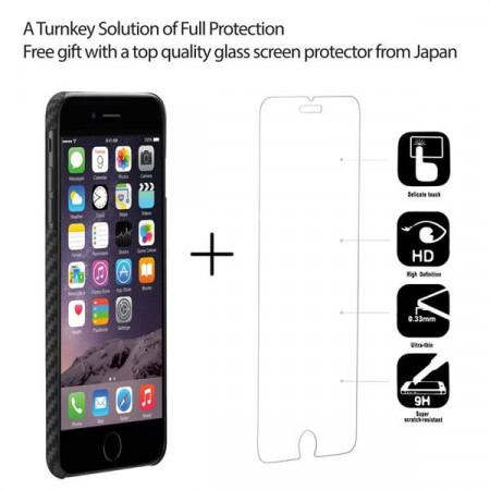 Чехол Pitaka MagEZ Case для iPhone 7 Plus черно-серый в полоску , кевлар (арамид)