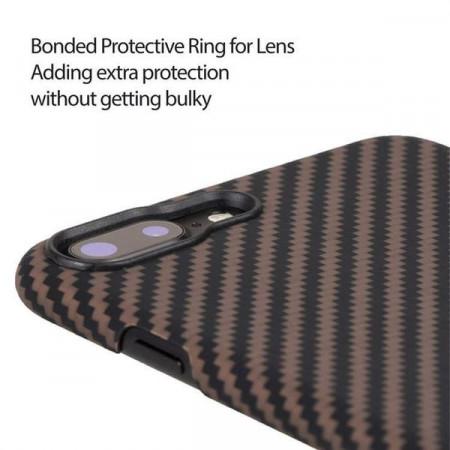 Чехол Pitaka MagEZ Case для iPhone 7 Plus розовое золото в полоску , кевлар (арамид)