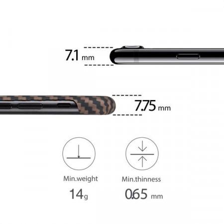 Чехол Pitaka MagEZ Case для iPhone 7 коричневый в полоску , кевлар (арамид)