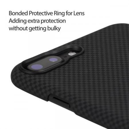 Чехол Pitaka MagEZ Case для iPhone 8 Plus черно-серый в шашку , кевлар (арамид)