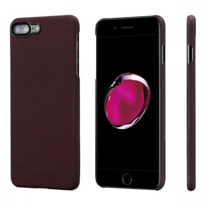 Чехол Pitaka MagEZ Case для iPhone 8 Plus красно-черный в шашку , кевлар (арамид)