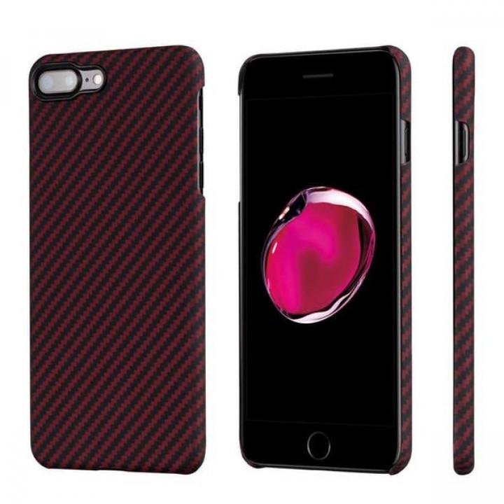 Чехол Pitaka MagEZ Case для iPhone 8 Plus красно-черный в полоску , кевлар (арамид)