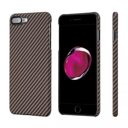 Чехол Pitaka MagEZ Case для iPhone 8 Plus черно-коричневый в полоску , кевлар (арамид)