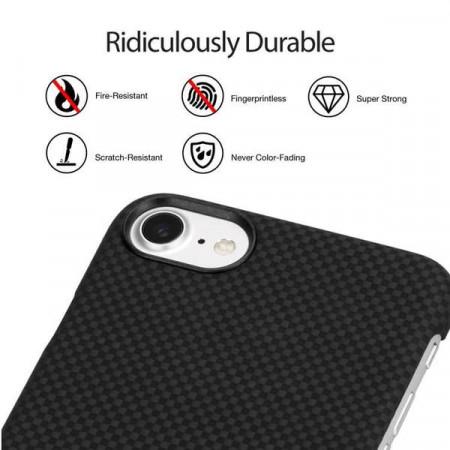 Чехол Pitaka MagEZ Case для iPhone 8 шахматное плетение черно-серый , кевлар (арамид)