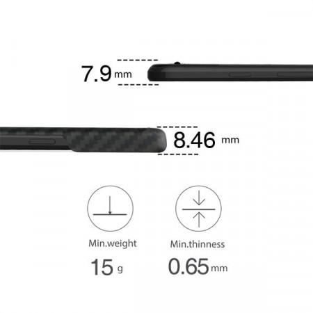 Чехол Pitaka MagEZ Case для Google Pixel 2 XL черно-серый в полоску , кевлар (арамид)