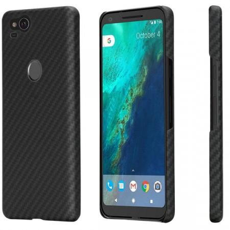 Чехол Pitaka MagEZ Case для Google Pixel 2 черно-серый в полоску , кевлар (арамид)