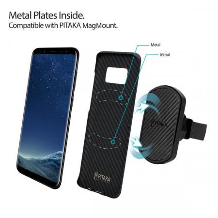 Чехол Pitaka MagEZ Case для Samsung Galaxy S8 Plus черный , кевлар (арамид)