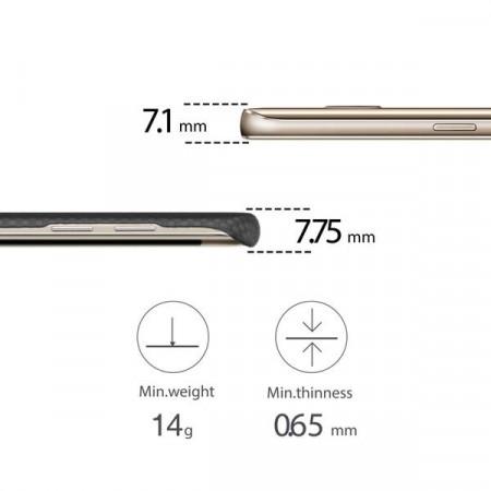 Чехол Pitaka MagEZ Case для Samsung Galaxy S7 Edge черно-серый в шашку , кевлар (арамид)
