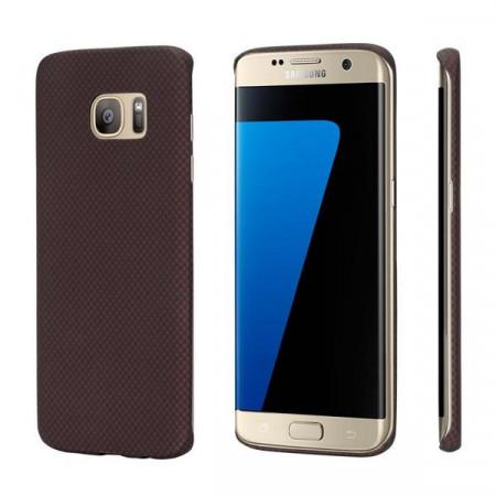 Чехол Pitaka MagEZ Case для Samsung Galaxy S7 Edge красно-черный в шашку , кевлар (арамид)