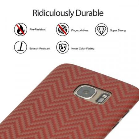 Чехол Pitaka MagEZ Case для Samsung Galaxy S7 Edge красно-оранжевый , кевлар (арамид)