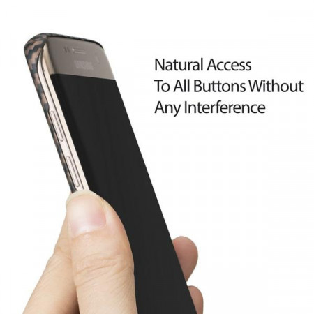 Чехол Pitaka MagEZ Case для Samsung Galaxy S7 Edge розовое золото в полоску , кевлар (арамид)