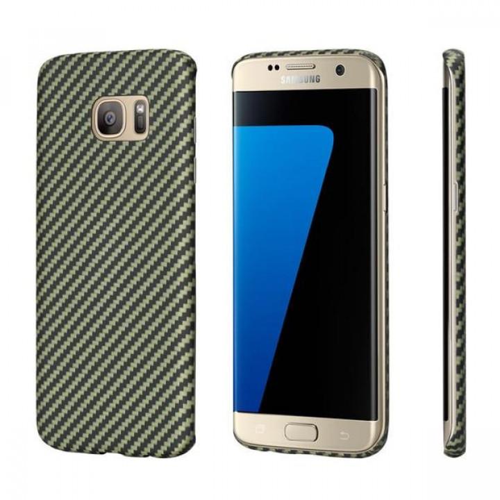 Чехол Pitaka MagEZ Case для Samsung Galaxy S7 Edge желто-черный в полоску , кевлар (арамид)