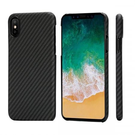 Чехол Pitaka MagEZ Case для iPhone X (10) черно-серый в полоску , кевлар (арамид)