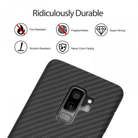Чехол Pitaka MagEZ Case для Samsung Galaxy S9 Plus черно-серый в полоску , кевлар (арамид)