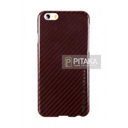 Чехол Pitaka MagEZ Case iPhone 6/6S красный глянцевый (Porsche Design) , кевлар (арамид)