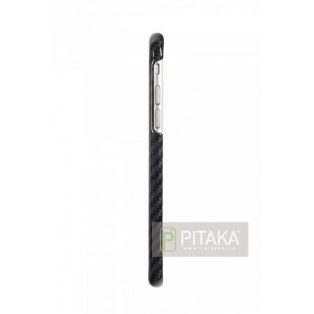 Чехол Pitaka MagEZ Case iPhone 6/6S черный глянцевый (Porsche Design с лого) , кевлар (арамид)