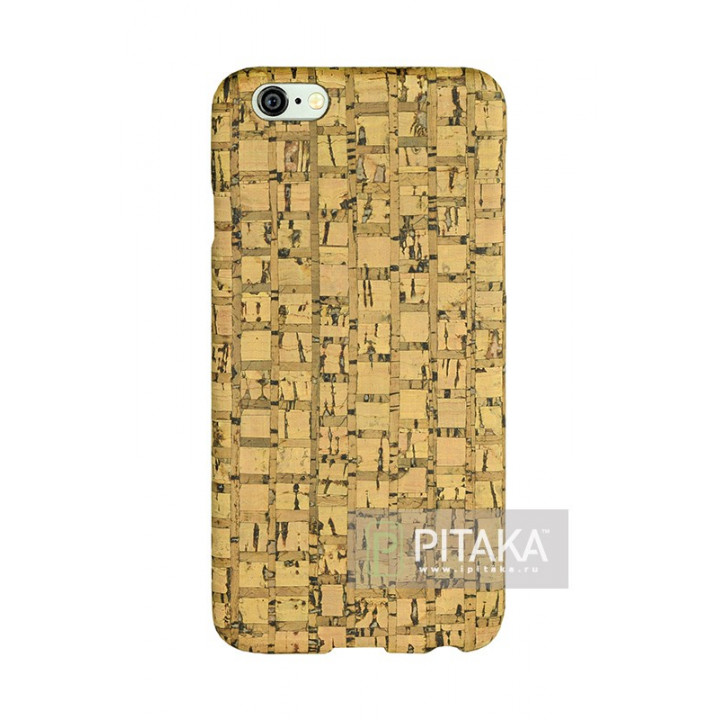 чехол Pitaka из Пробки для iPhone 6/6S крупная стружка , кевлар (арамид)