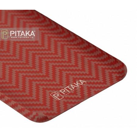 Чехол Pitaka MagEZ Case для iPhone 8 красно-оранжевый , кевлар (арамид)