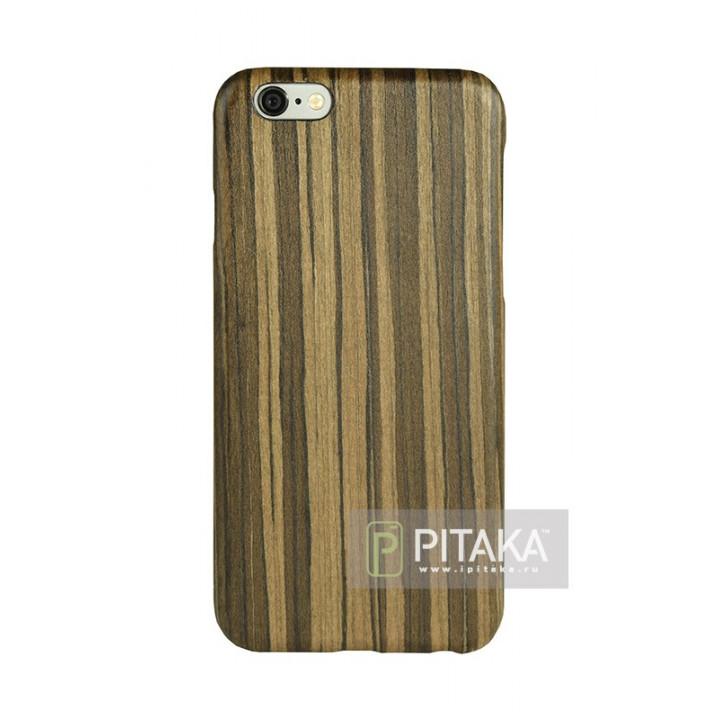 чехол Pitaka из дерева для iPhone 6/6S падук , кевлар (арамид)