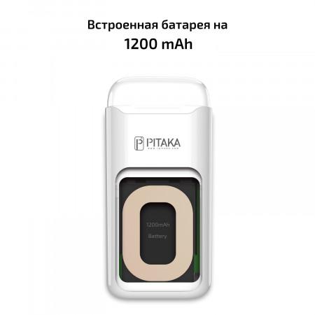 Ультрасовременный Essential чехол Pitaka Air Pal для AirPods/AirPods II, белый , кевлар (арамид)