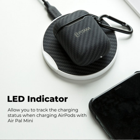 Чехол Air Pal Mini для наушников AirPods 1/2 , кевлар (арамид)