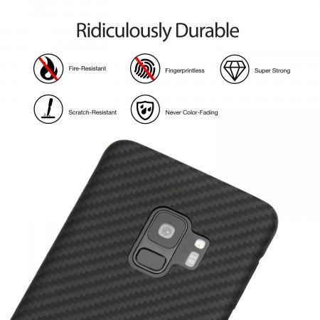 Чехол Pitaka MagEZ Case для Samsung Galaxy S9 черно-серый в полоску , кевлар (арамид)