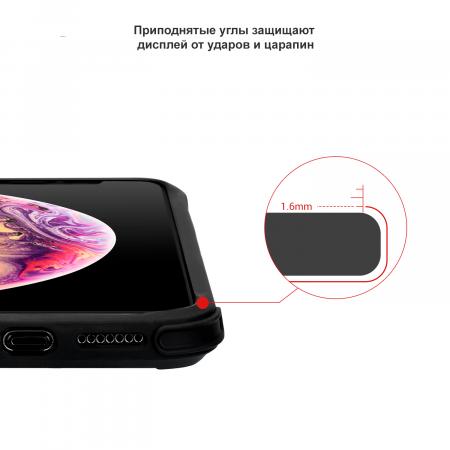 Противоударный Чехол Pitaka MagEZ Case PRO для iPhone Xs черно-серый в полоску , кевлар (арамид)