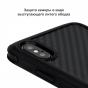 Противоударный карбоновый чехол Pitaka MagEZ Case PRO для iPhone Xs Max черно-серый в полоску