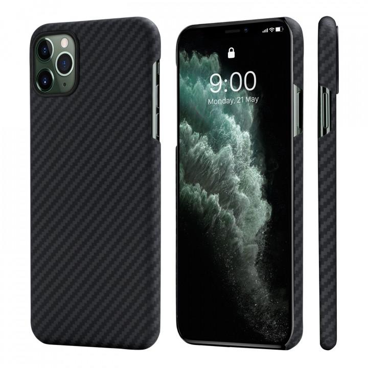 Чехол Pitaka для Apple iPhone 11 Pro, черно-серый , кевлар (арамид)