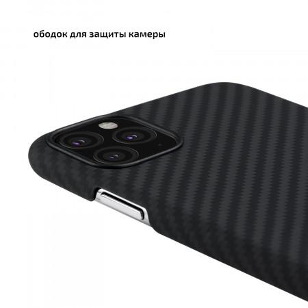 Чехол Pitaka для Apple iPhone 11 Pro Max, черно-серый , кевлар (арамид)