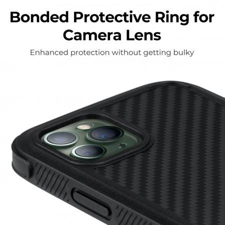 Противоударный Чехол Pitaka MagEZ Case PRO Для IPhone 11 Pro Max черно-серый в полоску , кевлар (арамид)