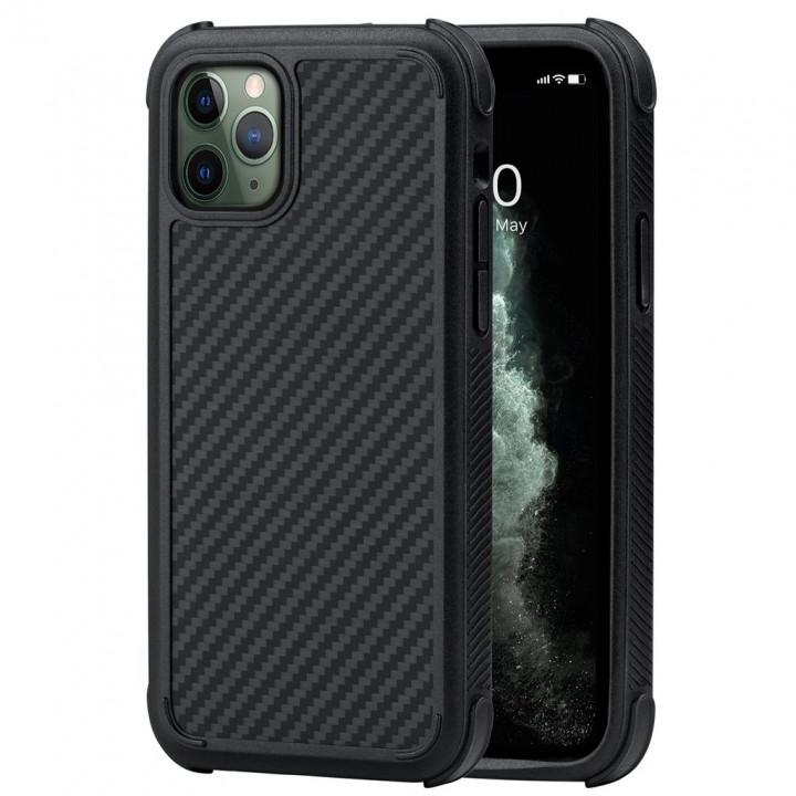 Противоударный Чехол Pitaka MagEZ Case PRO Для IPhone 11 Pro черно-серый в полоску , кевлар (арамид)