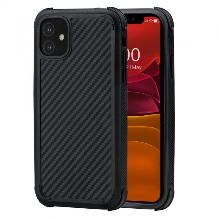 Противоударный Чехол Pitaka MagEZ Case PRO Для IPhone 11 черно-серый в полоску , кевлар (арамид)