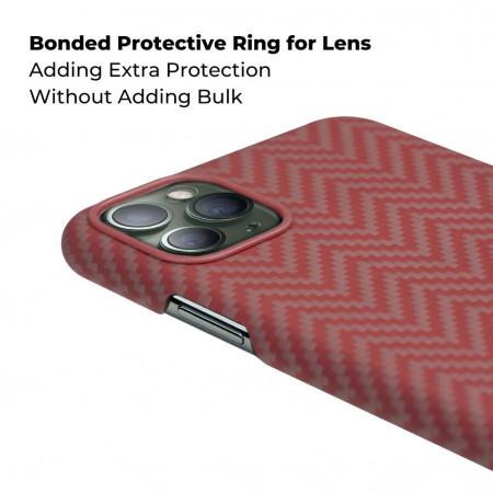 Чехол Pitaka для Apple iPhone 11 Pro, красно-оранжевый , кевлар (арамид)