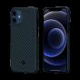 """Чехол Pitaka MagEZ Case для iPhone 12 mini 5.4"""", черно-синий, кевлар (арамид)"""