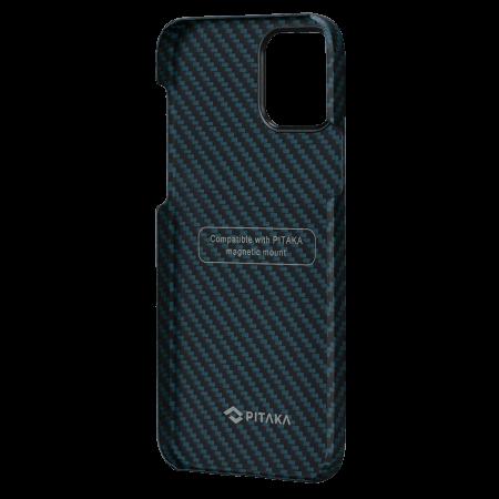 """Чехол Pitaka MagEZ Case для iPhone 12 Pro Max 6.7"""", черно-синий, кевлар (арамид)"""