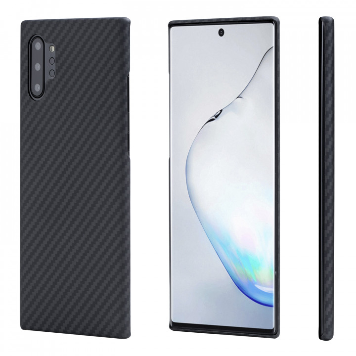 Чехол Pitaka для Samsung Galaxy Note 10+, черно-серый  , кевлар (арамид)