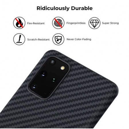 Чехол Pitaka MagEZ Case для Galaxy S20+, черный , кевлар (арамид)