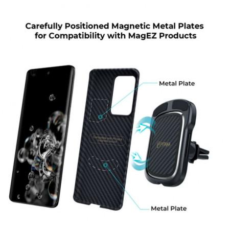 Чехол Pitaka MagEZ Case для Galaxy S20 Ultra, черный , кевлар (арамид)