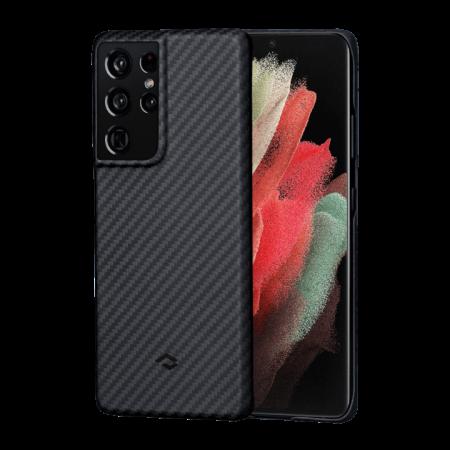 Чехол Pitaka MagEZ Case для Galaxy S21 Ultra, черный , кевлар (арамид)
