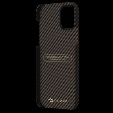 "Чехол Pitaka MagEZ Case для iPhone 12 Pro Max 6.7"", черно-коричневый, кевлар (арамид)"