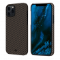 "Чехол Pitaka MagEZ Case для iPhone 12 Pro 6.1"", черно-коричневый, кевлар (арамид)"