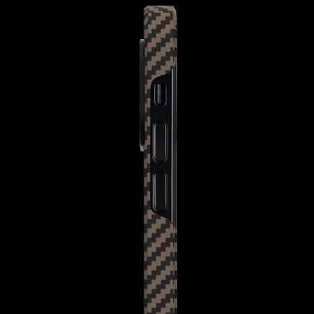 "Чехол Pitaka MagEZ Case для iPhone 12/12 Pro 6.1"", черно-коричневый, кевлар (арамид)"