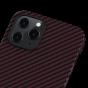 """Чехол Pitaka MagEZ Case для iPhone 12 Pro 6.1"""", черно-красный, кевлар (арамид)"""