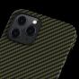 "Чехол Pitaka MagEZ Case для iPhone 12/12 Pro 6.1"", черно-зеленый, кевлар (арамид)"