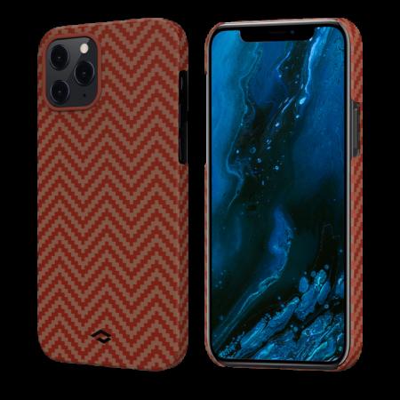 "Чехол Pitaka MagEZ Case для iPhone 12/12 Pro 6.1"", красно-оранжевый, кевлар (арамид)"