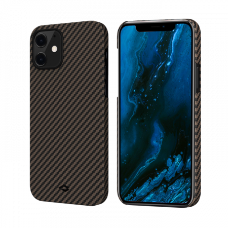 "Чехол Pitaka MagEZ Case для iPhone 12 mini 5.4"", черно-коричневый, кевлар (арамид)"